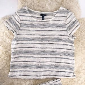 Gap Medium Short Sleeve Top Tweed